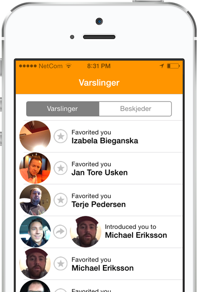 Effortless Introductions in Wonderloop for iPhone
